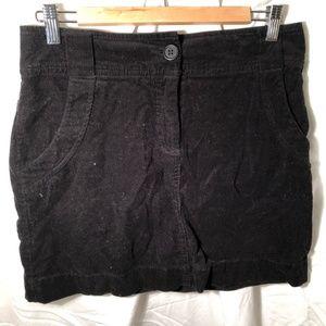 H&M black corduroy skirt